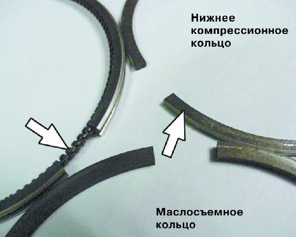 Вынимаем нижний вкладыш шатунного подшипника из крышки